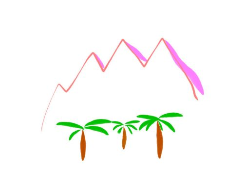 Mountains And Palm Trees by Whatsup15