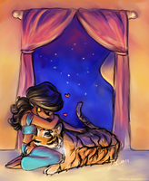 An Agrabah Evening by vilhelmina