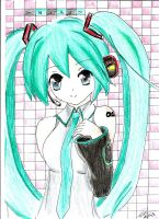 Miku Hatsune Drawing! by TaigaGirl
