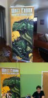 Matt Frank con banner finished by KaijuSamurai