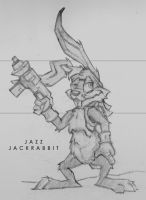 Jazz Jackrabbit Sketch by squiffel