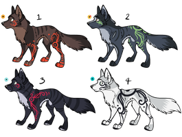 Assorted Canine Designs Batch 22 (CLOSED) by ChamberedNoctilus