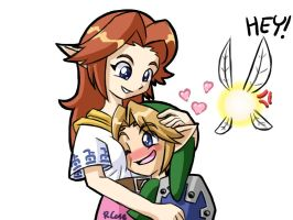 Link and Cremia by rongs1234