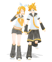 .: DL Series :. YM Kagamine Twins [Link down] by Duekko