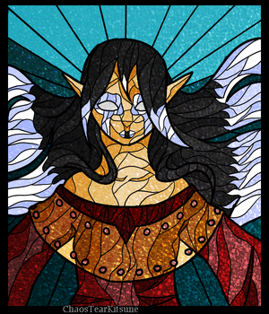 Stained Glass: Liaria by ChaosTearKitsune