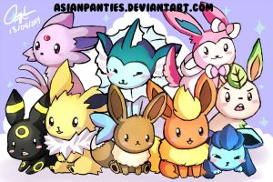 Eeveelutions by AsianPanties