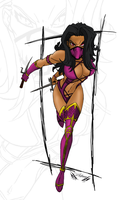 Mileena Mortal Kombat by denisovslava