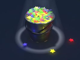 Pail of Stars by Corvat