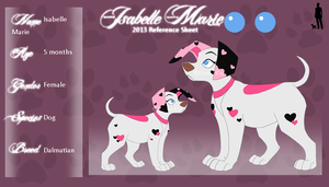 Isabelle Marie Reference Sheet 2013 by Aiyana-Kopa