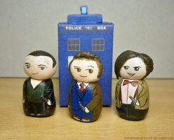 The three Doctors by MariaHasAPaintBrush