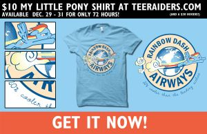 Rainbow Dash Airways Shirt by digitalfragrance