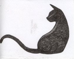 Fail on a cat sillouette by Dwafflehog