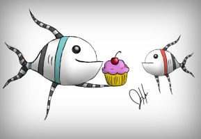 Fishes like cupcakes by ShyCrow