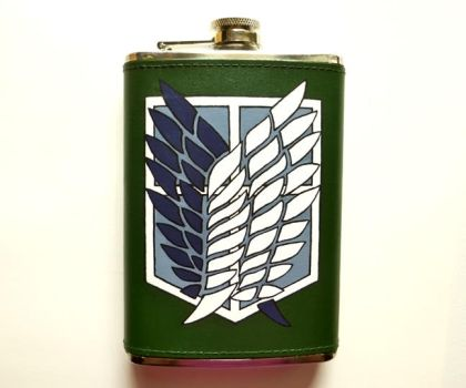 Attack on Titan Flask by Whyamithewerewolf