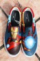 Iron Man Shoes by LovelyAngie