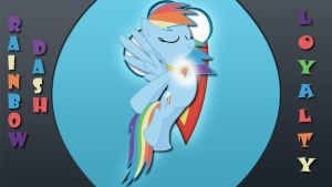 Wallpaper Rainbow Dash Loyalty by Barrfind