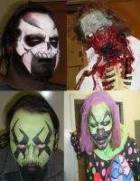 A Mix of haunt faces by dragonhuntr