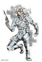 Metal Gear Solid 2-4: Raiden and Sunny by MenasLG