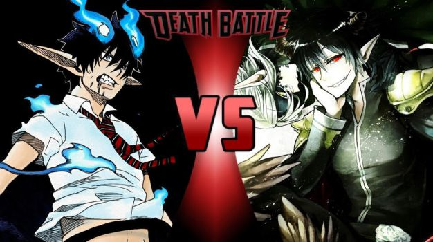 Death Battle: Rin Okumura vs. Sadao Maou by Phantasm-Of-Grey34
