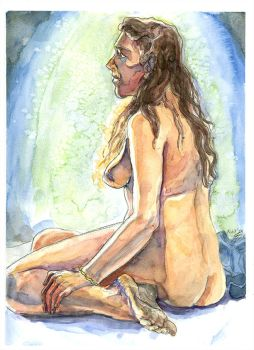Life Drawing Model - 3hr Watercolour Pose by moltres