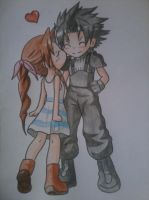Aerith and Zack wishs you Happy Valentinesday by Yuma76