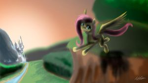 Flying Fluttershy Remade by AFL316