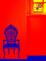 stool on red by petkau