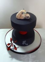 Dragon Tattoo Dumbell Cake by FifiCake