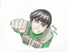 Rock Lee -- Fist pump by pura-cera