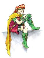 Robin in Repose by Mr-DNA