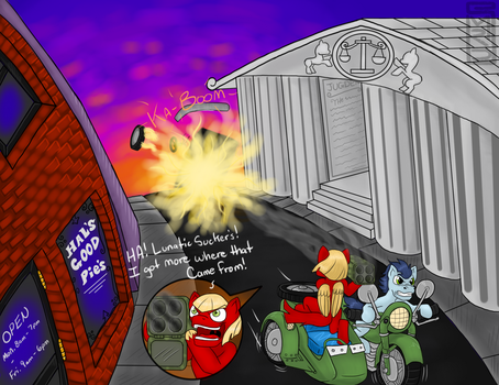 Escaping NLR authorities (by MRDDragon) by The-Nuclear-Pegasus