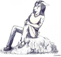 Arte viejo Thinking bunny by RaptecClawtooth