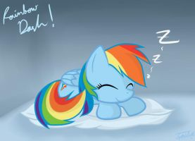 [FanArt] Rainbow Dash Sleep by YoShiMal2u