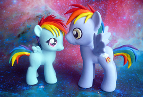 Rainbow Dash and Rainbow Dad by mooncustoms