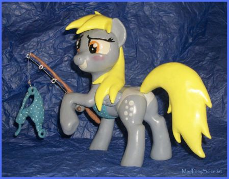Fishing Derpy Copperpony by MadPonyScientist