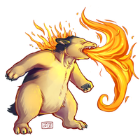 PokeddeXY - Typhlosion by Electrical-Socket