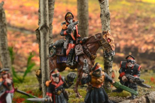 Imperial Guard Diorama 2 by GeneralCambronne