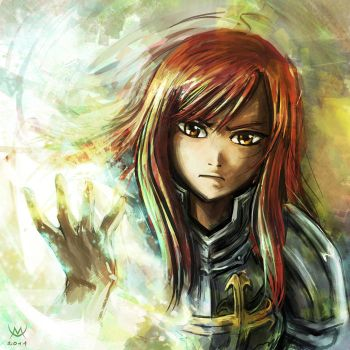 Speed Portrait - Erza Scarlet by Maxa-art