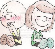 Charlie Brown and Peppermint Patty by alexdream12