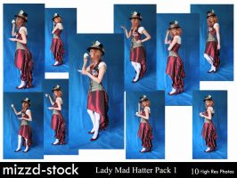 Lady Mad Hatter Pack 1 by mizzd-stock