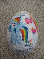 Rainbow dash chocolate surprise egg by Twilightberry
