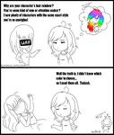 My OC's hair: The Truth by Milkate