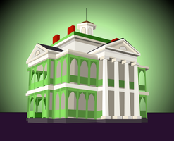 Simplistic Haunted Mansion by broopimus