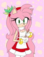 Older Amy Rose ~ Cooking... by Nyxiare