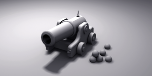Heavy cannon for my ships WIP_19nov2011 by VanoNTP