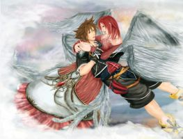 +kh2: touched by an angel+ by erek80