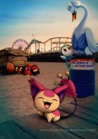 Wild Pokemon on Beach Patrol!! by Ninja-Jamal