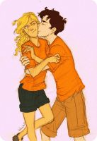 Percy and Annabeth by cheesebucket100
