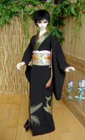 Ivu, Black Formal Furisode 1 by InarisansCrafts