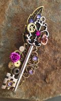 Mechanical Garden Fantasy Key by ArtByStarlaMoore